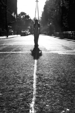 Annie Hall, dawn walk through London. Street Shadows