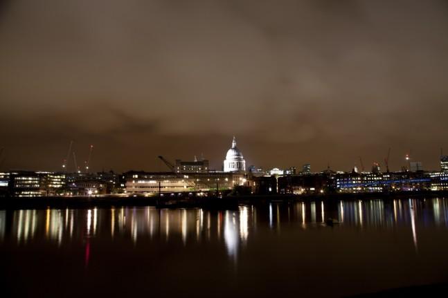 Night light, London Thames